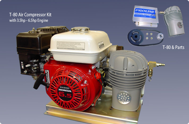 T-80 Air Compressor & Parts/Kits